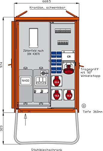 Walther WAV0170A WAV0170A Anschlussverteilerschrank 44kVA