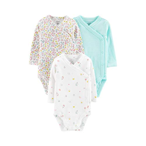 Carter's Baby Girls' 3-Pack Side-Snap Bodysuits (Preemie)