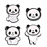 4PCS/Set Chocolate Candy Sandwich Bread Panda Shape Tools Biscuit Mold Cookie Cutter(White)