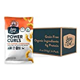 LesserEvil 'No Cheese' Cheesiness Grain Free Power Curls, No Artificial Ingredients, Egg White, Pack of 6, 4 oz Bags