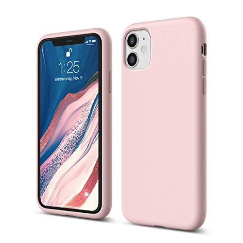 """Elago Silicone Liquido Custodia Cover Compatibile con iPhone 11 Case (6.1""""), Silicone Liquido Premium, Protezione Full Body : Case Antiurto 3 Strati (Lovely Rosa)"""