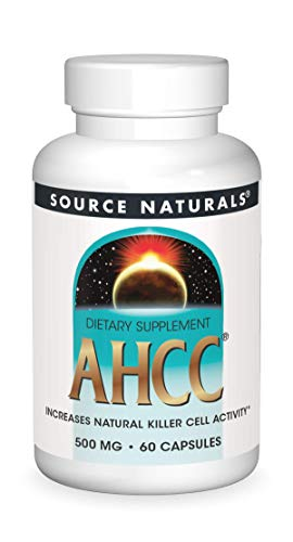 Source Naturals AHCC 500 mg Increases Natural Killer Cell Activity - 60 Capsules