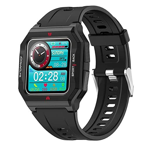 XYZK FT10 Reloj inteligente para mujer con oxígeno en la sangre, frecuencia cardíaca, presión arterial, reloj de pulsera para hombre, cronómetro, podómetro, calorías, reloj deportivo impermeable (B)