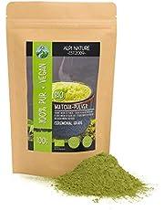 Biologisch matcha poeder (100g), groene thee Ceremonial Grade, matcha theepoeder van gecertificeerde biologische teelt, glutenvrij, lactosevrij, laboratorium getest, veganistisch
