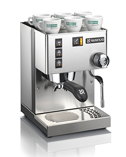 Rancilio Silvia Espresso Machine with Iron Frame and Stainless Steel Side Panels, 11.4 by...
