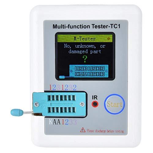 Probador de componentes electrónicos, LCR-TC1 Detector de condensadores de pantalla LCD en color de 1.8