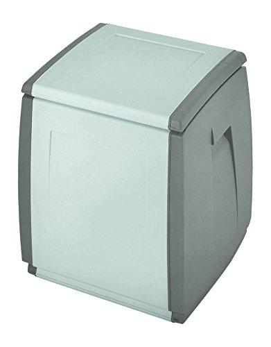 Terry in & Out Box 55 Coffre Multifonctionnel pour Intérieur et Extérieur, Gris, 54x54x57 cm
