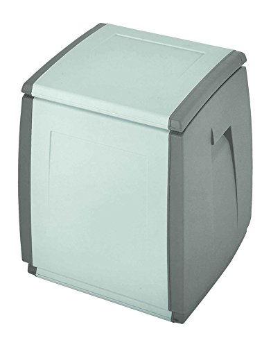 Terry, In & Out Box 55, Multifunktionsbox, Farbe: Grau/Taubengrau, Material: Kunststoff, Größe: 54x54x57 cm, Fassungsvermögen: 120 l