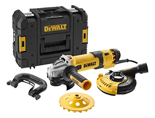 DEWALT DWE4257-QS - Amoladora eléctrica de 125 mm, 1500W, hasta 10.000 rpm