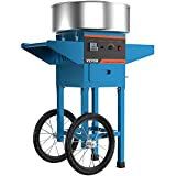 VBENLEM Cotton Candy Machine with Cart Commercial Floss Maker Perfect for Family and Various Party, 20.5 Inch, Blue