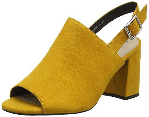New Look Damen Strive Peeptoe Pumps, Gelb (Dark Yellow 87), 36 EU