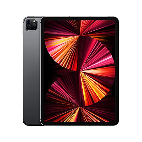 2021 Apple iPadPro with Apple M1 chip (11-inch/27.96 cm, Wi-Fi + Cellular, 1TB) – Space Grey (3rd Generation)