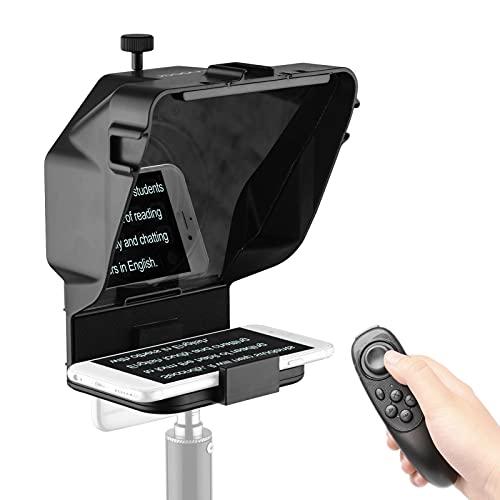 Mini Teleprompter portátil para Youtube Tiktok Video Live Streaming, teléfono, cámara DSLR, Grabador de vídeo móvil, artefacto con Control Remoto (Color : For Phone~Without Stand)