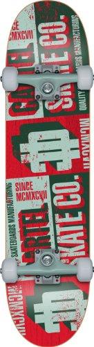 Cartel Crate Skateboard rot Greenish Red 7