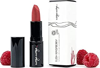 UOGA UOGA - Organic Lipstick Lush Raspberry - Raspberry - Colorants extracted from Fruit - Nourishing and protective - 100% natural - Certified Cosmos Natural - 4 g