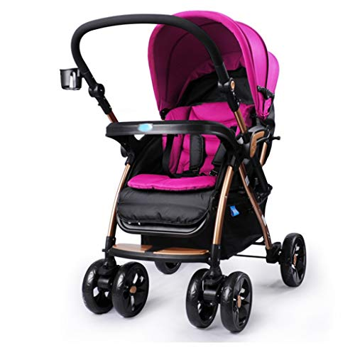 Buy Strollers Baby Baby Strollers Buggies Can Sit Lay Portable Foldable Pushchairs High Landscape Cu...