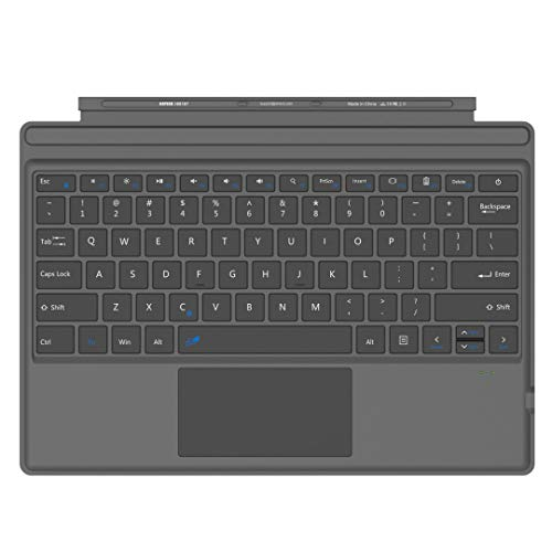 Arteck Microsoft Surface Pro Type Cover, Ultra-Slim Portable Bluetooth Wireless Keyboard with Touchpad Built-in Rechargeable Battery