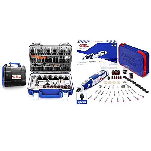 APEXFORGE Rotary Tool Accessories with 8V Cordless Rotary Tool