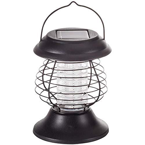 Solar Flytrap, licht muggen killer Lamp Insect Bug Zapper UV-lamp buitenlamp voor terrassen tuinen Camping Tenten,Black