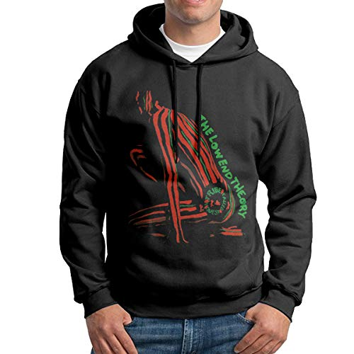 XINSHOUS The Low End Theory Men's Pullover Hooded Sweatshirt L
