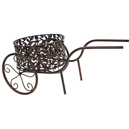 Roots & Shoots Ornate Bronze Effect Wheelbarrow Planter