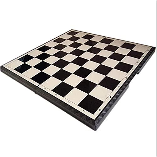 Juego de juegos de mesa de entretenimiento Juego de ajedrez portátil de ajedrez plástico plástico plástico tablero de ajedrez juego niño juguete regalo ajedrez conjunto de ajedrez Juego de tablero de