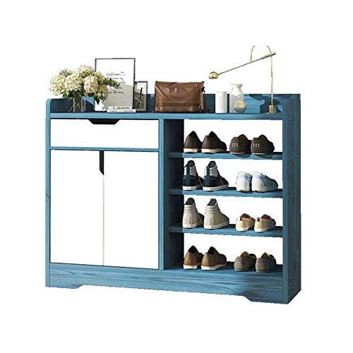 KEHUITONG - Zapatero multiusos, moderno, minimalista, para casa, armario de zapatos simple, gabinete de pasillo, armario de separación de taquilla ultra delgado [100 x 24 x 80], color Pino azul.
