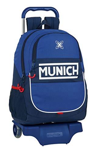 Safta 612074313 Mochila Escolar con Carro de Munich Retro, 330x150x430mm