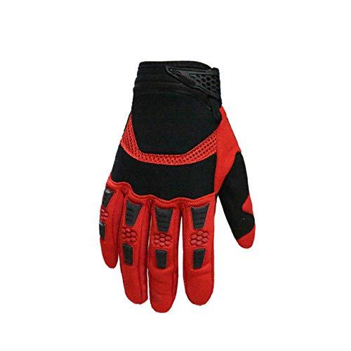 1 paio di guanti da Ciclismo uomo dito pieno Sport Bici bicicletta Inverno tenere in Caldo antiscivolo Gel Pad MTB guanti da Moto da Corsa in rete - Rosso, m