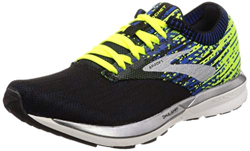 Brooks Herren Ricochet Laufschuhe, Schwarz (Black/Nightlife/Blue 004), 46 EU