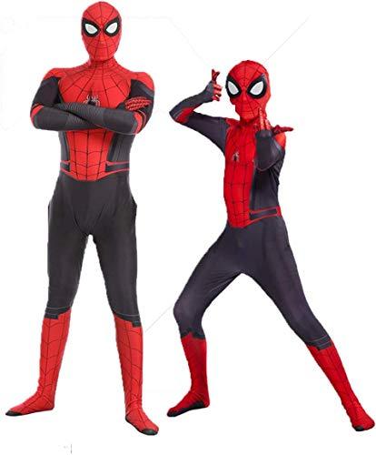 AZITEKE - Disfraz de Spiderman, unisex, para adultos y niños, con licra/elastano, ideal para fiestas de disfraces, Halloween y de cosplay