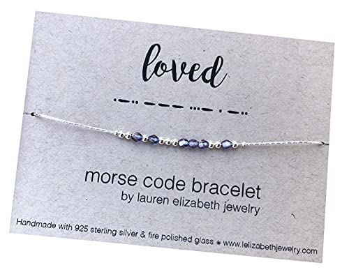 Personalized Morse Code Bracelet - Custom Name Jewelry - Hidden Message Bracelet for Women - Sterling Silver Gift for Her - Customized with your own word, name, date or phrase