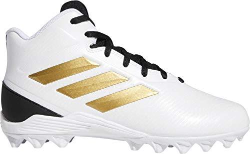 Adidas - Botas de fútbol para niños (blanco/dorado, 5,5 M US)