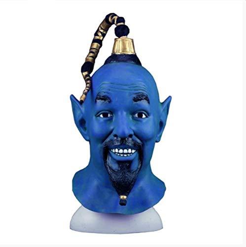 Aladdin Y La Lámpara Mágica Djinni Cosplay Máscara Azul M