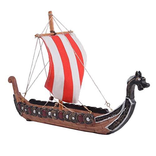 F Fityle Drachenboot Modelle DIY Wikingerschiff Schiffsmodell - wie beschrieben, 27,5 x 5,5 x 17,5 cm