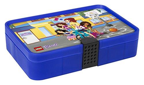 LEGO Friends Sortierbox, Aufbewahrungsbox/-kasten mit Fächern, durchsichtig rot