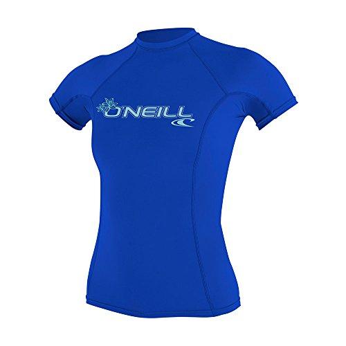 O\'Neill Wetsuits Damen Basic Skins Short Sleeve Rash Guard T-Shirt, Tahitian Blue, M