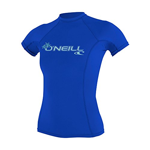 O\'Neill Wetsuits Damen Basic Skins Short Sleeve Rash Guard T-Shirt, Tahitian Blue, M