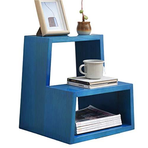 STRAW Escalera Banco de Zapatos Silla-, Nivel Zapatero de Entrada, Organizador del almacenaje de la Espuma del Asiento Acolchado, imitación de Cuero, Marco de Metal (Color : Blue)
