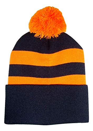 Arena Scarves Dundee United Supporters Black and Tangerine Traditional Style Bobble Hat