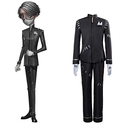 Identity V Cosplay Disfraz embalsamador Aesop Carl Cosplay Uniforme Halloween Carnaval Fiesta Negro Uniforme Cosplay Vestido Conjunto Completo para Adultos