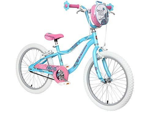 Schwinn Mist 20' Wheel Smartstart Girls Bike, Blue and Pink with Kids Flower Design (Age 5 to 8 years)