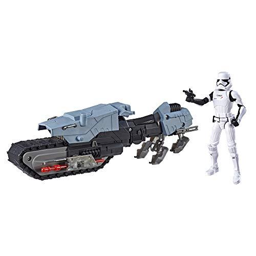 Star Wars Galaxy of Adventures Erste Ordnung Fahrer und Treadspeeder 12,5 cm große Figur und Fahrzeug 2er-Pack mit toller Blaster-Funktion