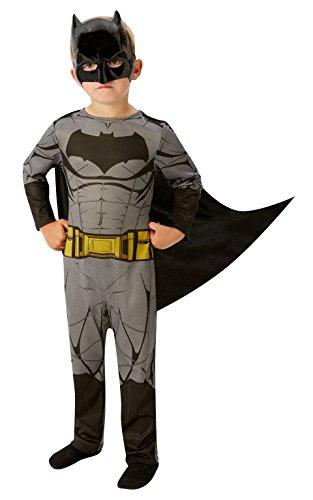 Rubie`s 640807L - Justice League Costume Batman, Multicolore, Taglia 7-8 Anni
