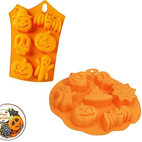 Halloween Silicona Molde, Molde de silicona de murciélago de calabaza, Se usa...