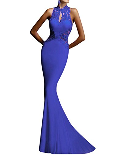 GlorySunshine Women's Sheath Sexy Lace Backless Mermaid Bridal Flare Dress