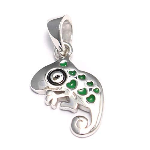 Chamäleon - Ciondolo in argento 925 a forma di leguana, per bambine, idea regalo
