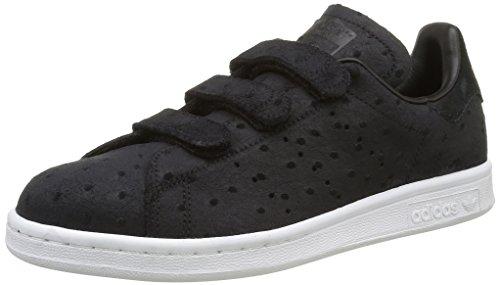 adidas Damen Stan Smith CF Sneakers, Schwarz (Core Black/Core Black/Core Black), 42 EU