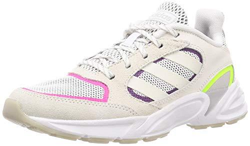 Adidas 90s VALASION, Zapatillas para Correr Mujer, Cloud White/Cloud White/Grey Six, 36 EU