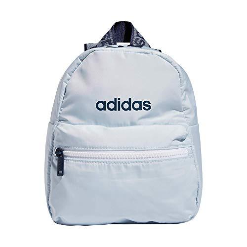 adidas Linear 2 Mini mochila pequeña para mujer, Mujer, Mochila, 979020, Azul/Halo Azul/Crew Navy, talla única